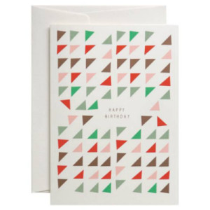 Pleasedtomeet_Happy Triangles Grusskarte_3.75Euro