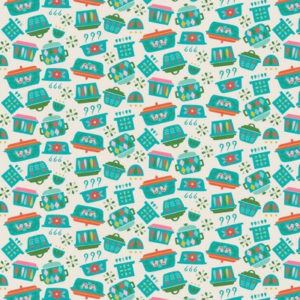 Riley Blake_Vintage Kitchen_Geschirr mint